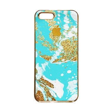 Heavencase Motif Apple Gold 03 Casing for iPhone 5s or iPhone 5 - Gold