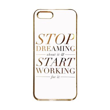 Heavencase Motif Apple Gold 04 Casing for iPhone 5s or iPhone 5 - Gold