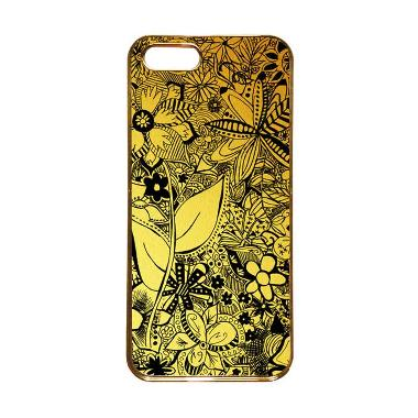 Heavencase Motif Apple Gold 06 Casing for iPhone 5s or iPhone 5 - Gold
