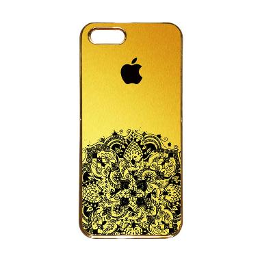 Heavencase Motif Apple Gold 12 Casing for iPhone 5s or iPhone 5 - Gold