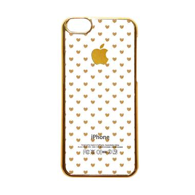 Heavencase Motif Apple Gold 15 Casing for iPhone 5C - Emas