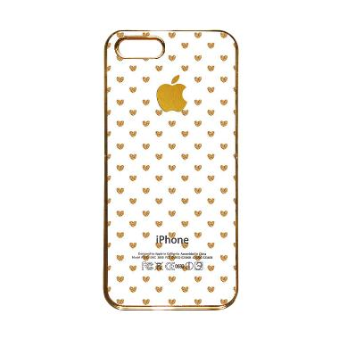 Heavencase Motif Apple Gold 15 Casing for iPhone 5s or iPhone 5 - Gold