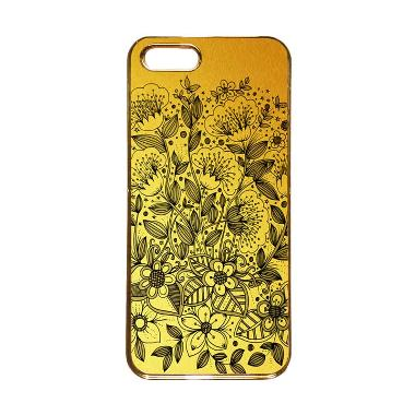 Heavencase Motif Apple Gold 16 Casing for iPhone 5s or iPhone 5 - Gold