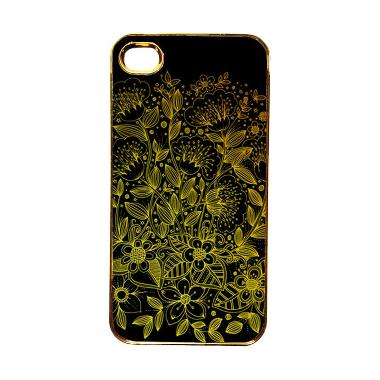 Heavencase Motif Apple Gold 17 Casing for iPhone 4 or iPhone 4s - Gold