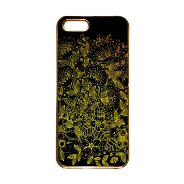 Heavencase Motif Apple Gold 17 Casing for iPhone 5s or iPhone 5 - Gold