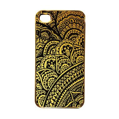 Heavencase Motif Apple Gold 18 Casing for iPhone 4 or iPhone 4s - Gold