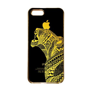 Heavencase Motif Apple Gold 20 Casing for iPhone 5s or iPhone 5 - Gold