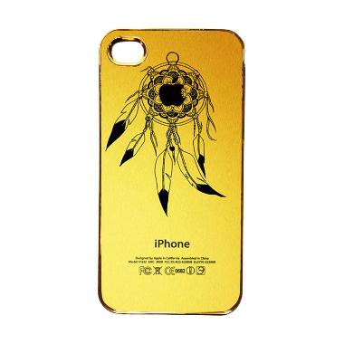 Heavencase Motif Apple Gold 22 Casing for iPhone 4 or iPhone 4s - Gold