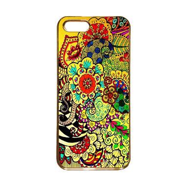 Heavencase Motif Apple Gold 23 Casing for iPhone 5s or iPhone 5 - Gold