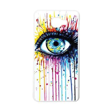 HEAVENCASE Motif Melting Eyes Hardc ... ung Galaxy A9 Pro - Putih