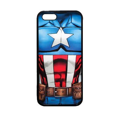 Heavencase Superhero Captain Americ ... ne 5 or iPhone 5s - Hitam