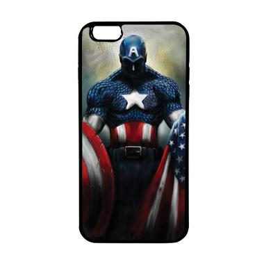 HEAVENCASE Superhero Captain Americ ... or iPhone 6s Plus - Hitam