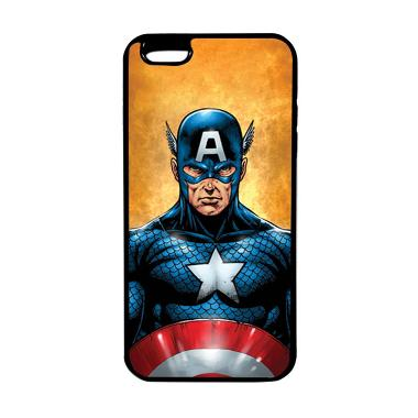 Heavencase Superhero Captain Americ ... ne 6 Plus/6s Plus - Hitam
