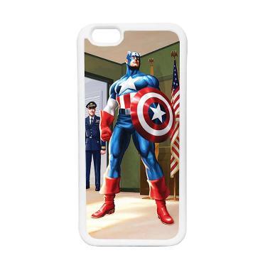 HEAVENCASE Superhero Captain Americ ... ne 6 or iPhone 6s - Putih