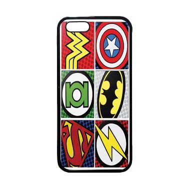 HEAVENCASE Superhero Logo Softcase  ... e 5 and iPhone 5s - Hitam