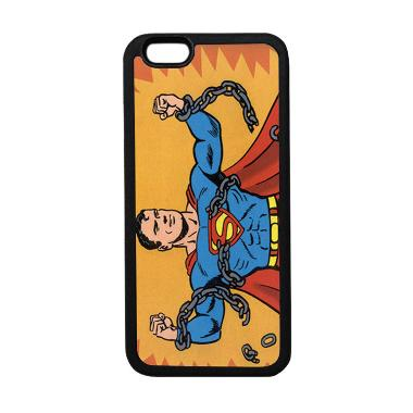 HEAVENCASE Superhero Superman 05 Ca ... ne 6 or iPhone 6s - Hitam