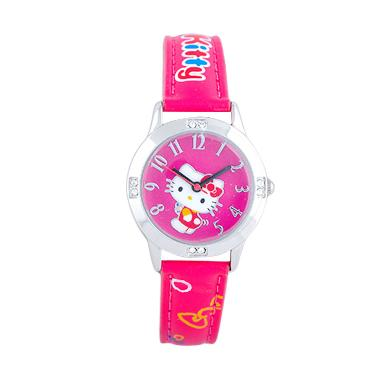 Hello kitty Jam Tangan Anak HKFR1264 01C Leather Strap Merah .