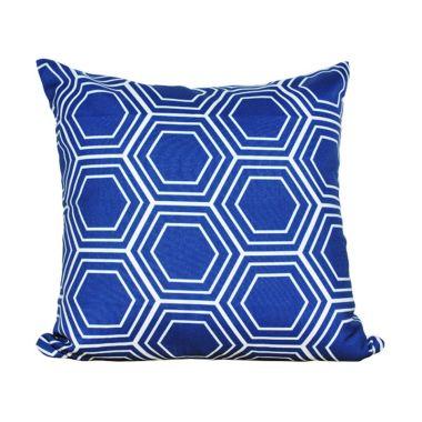 Hermosa Octagon Blue Bantal Sofa [4 ...