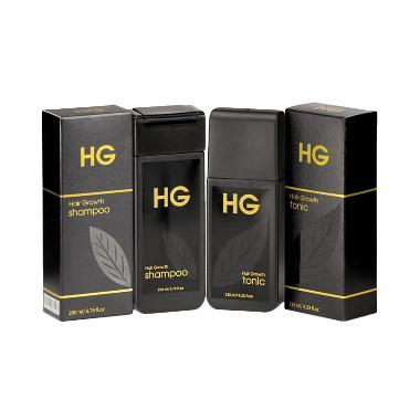 Paket HG Shampoo & Hair Tonic For Men Set Perawatan Rambut Pria