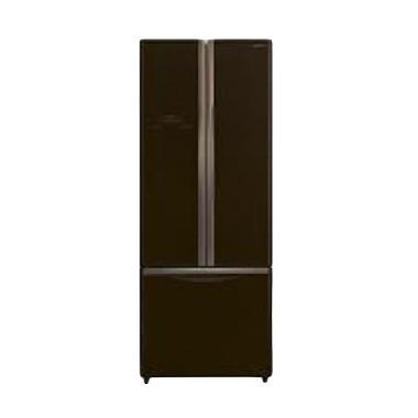 Hitachi R-WB55PGD2-GBW Kulkas - Cokelat [3 Pintu]