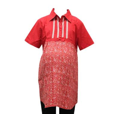HMILL 1298 Blus Baju Hamil Kerja - Merah