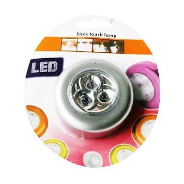 Home-Klik Stick & Click Touch Lamp 3 LED Lampu Tempel