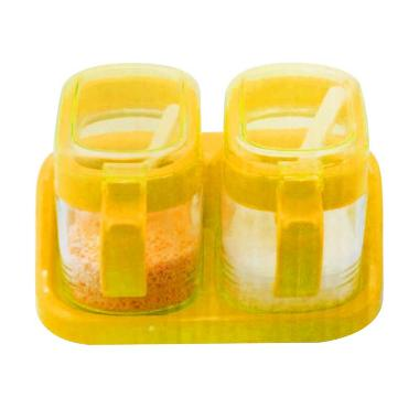 Home-Klik TG2202 Set Tempat Bumbu G ... k - Orange [2 pcs/300 mL]