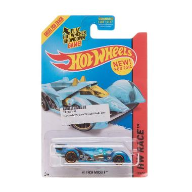 Hotwheels HW Race Hi-Tech Missile Super Chrome Diecast