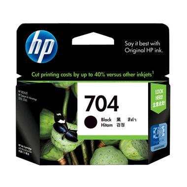 HP 704 Black Ink Cartridge Tinta Printer