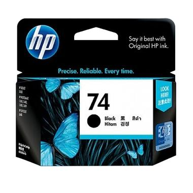 HP 74 Tinta Printer - Hitam