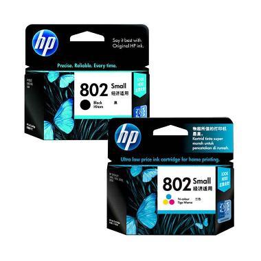 HP 802 Original Ink Cartridge Tinta ... ck and Color/1 Set/2 Pcs]