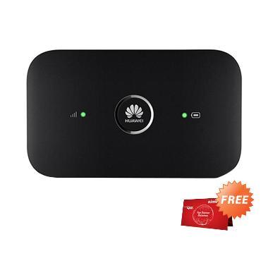 Huawei E5573 Mifi Modem [4G] - Hitam + Free Telkomsel 14GB