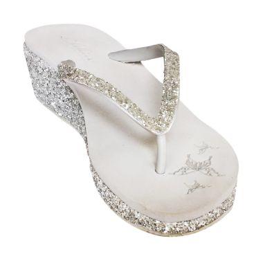 Sakia Cabaret Wedges Silver Sandal  ...