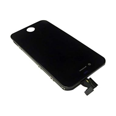 Apple Hitam Digitizer Replacement LCD for iPhone 4S . a9681a277d