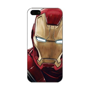 iBuy Iron Man Face 2 Marvel Hardcase Casing for iPhone 5/5S/5SE