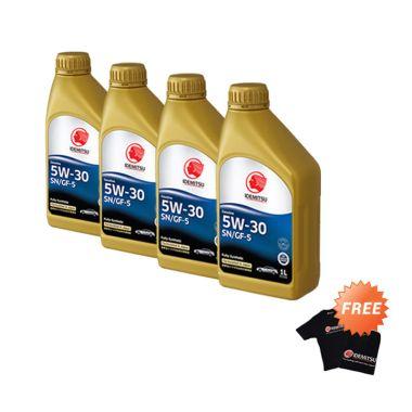 Idemitsu SN/GF-5 5W-30 Full Synthetic Pelumas Mobil [4 botol x 1 Liter] + Free Kaos