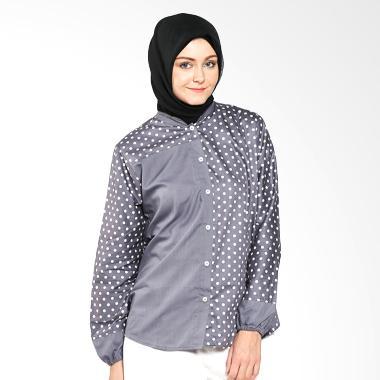 Imani IB-TVG-27 Volka Cotton Top Grey Atasan Muslim