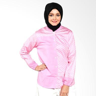 Imani IB-TVP-27 Volka Cotton Top Pink Atasan Muslim