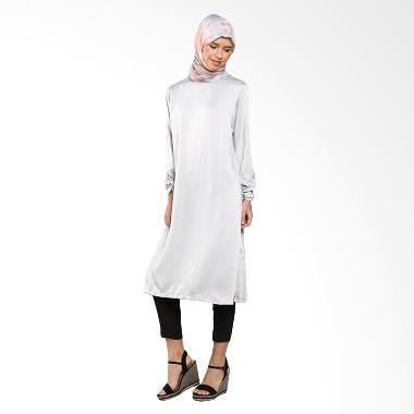 Imani Kekey IB-TPG-11 Top Grey Baju Muslim Wanita