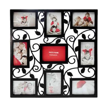 jual inno foto 08970 y3309 floral bingkai foto black. Black Bedroom Furniture Sets. Home Design Ideas