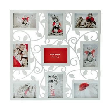 jual inno foto 08971 y3309 floral bingkai foto white. Black Bedroom Furniture Sets. Home Design Ideas