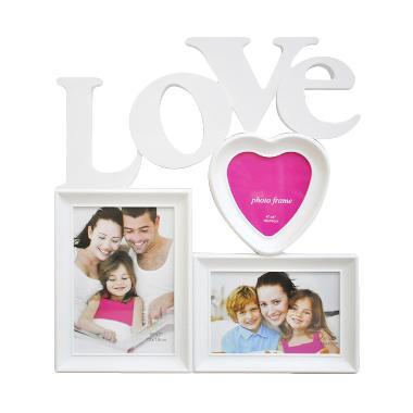 jual inno foto bingkai foto 0303 love frame putih 4x4. Black Bedroom Furniture Sets. Home Design Ideas