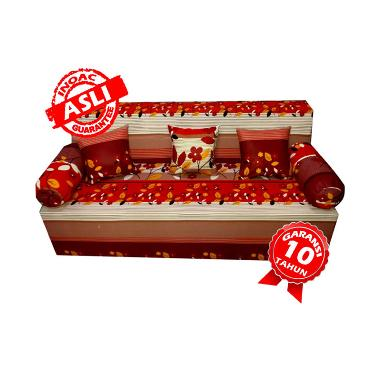 Inoac Motif Bunga Sofabed - Merah