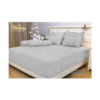 Internal Vallery Light Grey Sprei [180x200x30 cm]