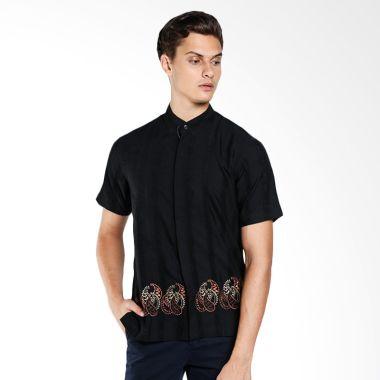 Intresse Scallyweg Short Sleeve KF-5958-BK7 Black Baju Koko & Gamis