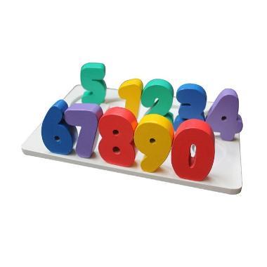 Mainan Kayu Alat Peraga Edukatif Chunky Puzzle Angka