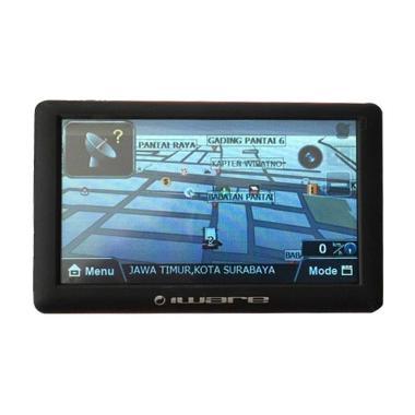 Iware 9801 Multimedia Navigator Hitam Biru GPS Mobil