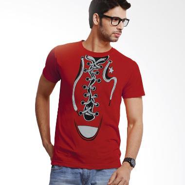 Jackdow T0151 kaos keren desain Sepatu Atasan Pria - Red