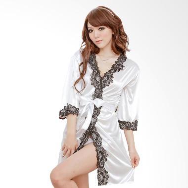 Jakarta Lingerie JLF169C White Kimono Sexy Pakaian Dalam Wanita