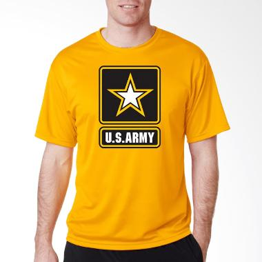JersiClothing US Army Velvet Print Kaos Pria -  Yellow